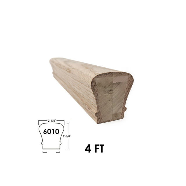 6010 Wood Staircase Handrail Fitting for Stair Remodel 7020 Red Oak Tandem Cap