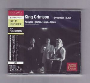 CD-KING-CRIMSON-Collector-039-s-Club-Tokyo-Japan-Dec-18-1981-Import-NEW