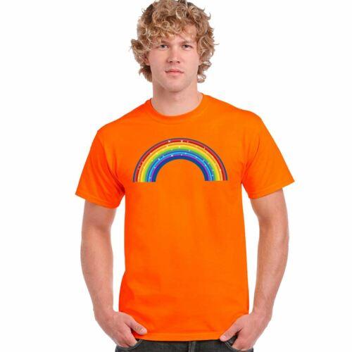 Rainbow Sparkling NHS Print T Shirt Mens Short Sleeve Top Cotton Tee Casual 8093