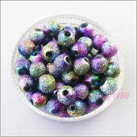 60 New Acrylic Charms Ball Round Spacer Beads Colored for DIY Crafts 6mm