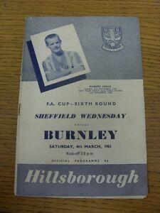 04-03-1961-Sheffield-Wednesday-v-Burnley-FA-Cup-folded-creased-score-inside