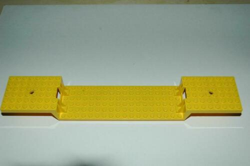 Lego Railway TRAIN Plate Waggon Base 34x6 FLAT BED YELLOW