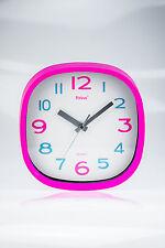 Quarzwanduhr Wanduhr Uhr Design Küchenuhr Rund Pink Ziffernblatt Mebus Uhrzeiger
