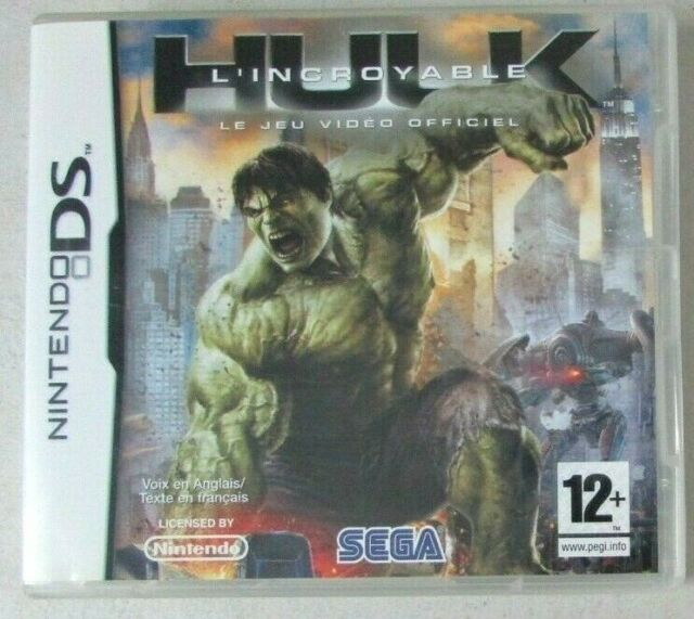Jeu nintendo DS L'incroyable Hulk Marvel Le jeu video officiel 12 ans+