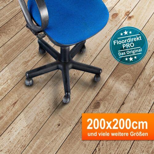 Bodenschutzmatte 200x200cm für Hartböden aus PolycarbonatFarbe: Transparent