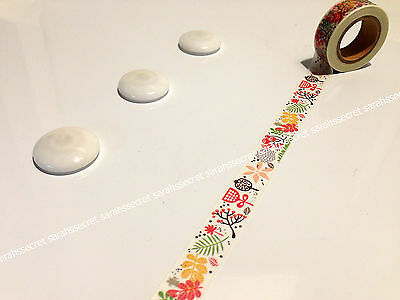 Japanese Washi Tape 15mmx10m Fishtank Flowers Grass #W1025