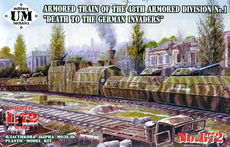 Armored train  Death to the German Invaders   UMmt  72 scale