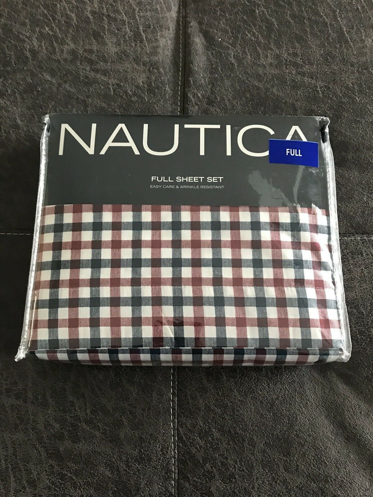 Nautica Full 4 Piece Sheet Set White Plaid Cotton NEW NWT CHEAPEST PRICE ON EBAY