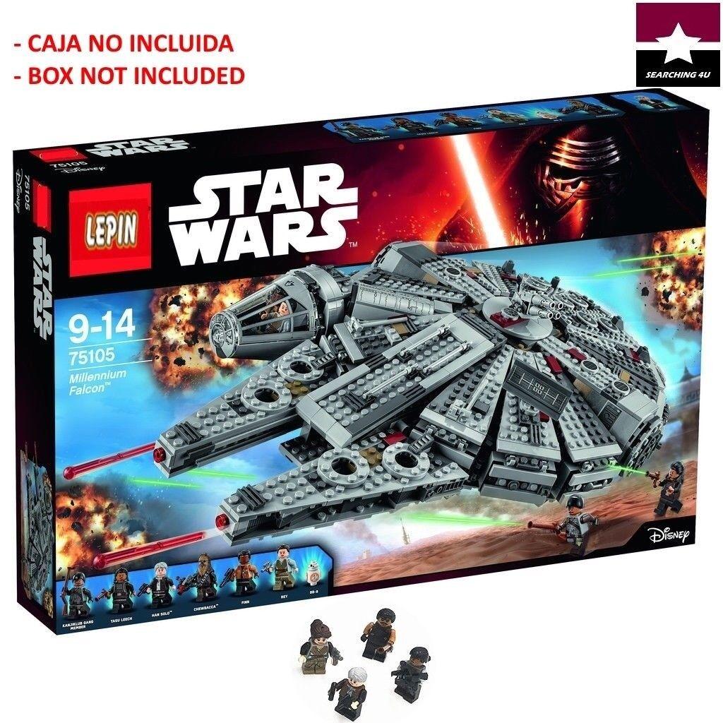 MODEL MILLENNIUM FALCON 75105 COMPATIBLE 05007 HALCON MILENARIO STAR WARS 1381pc