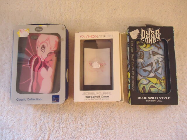 Mixed Bundled Lot Of 3 Cases,2,Ipod Touch 4th Generation,1,Iphone 4