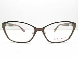 d12964c9c55 Image is loading Ted-Baker-B225-Brown-Rectangular-EYEGLASSES-FRAMES-54-