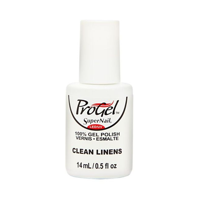 Supernail ProGel Gel NAIL Polish Clean Linens Creme 0.5 Fluid Ounce ...