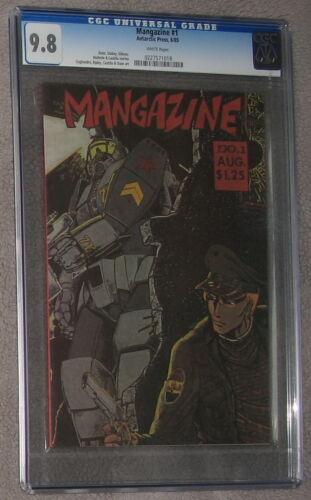 MANGAZINE #1 early Manga Anime TIGER-X 1985 Antarctic Press SCARCE CGC NMMT 9.8