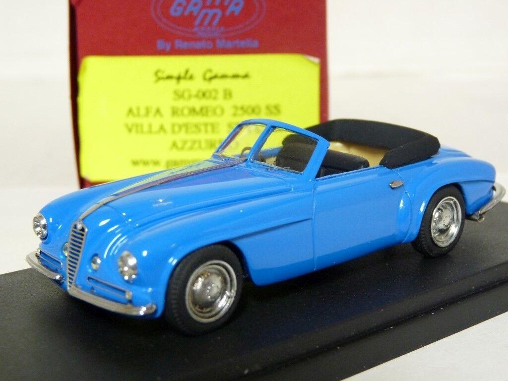 Gamma simple SG-002B 1 43 Alfa Romeo 2500 ss Villa d'este hecho a mano modelo de resina