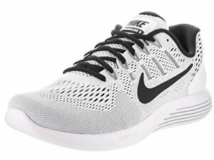 MEN NIKE LUNARGLIDE 8 #AA8676-101 WHITE/BLACK SIZE 10 NEW IN THE BOX