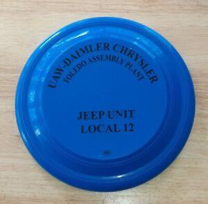 Vtg-JEEP-UAW-Frisbee-Disc-Diamler-Chrysler-WRANGLER-TOLEDO-PLANT-local-12-union