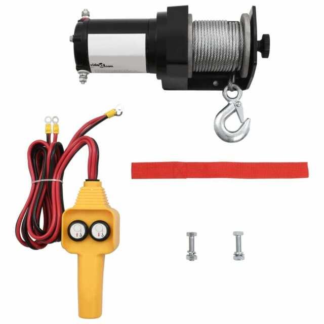 vidaXL Treuil Électrique 907 kg Télécommande Filaire Auto Bateau Outil Garage L