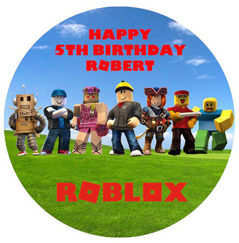 ROBLOX EDIBLE PREMIUM WAFER BIRTHDAY PARTY CAKE DECORATION IMAGE TOPPER