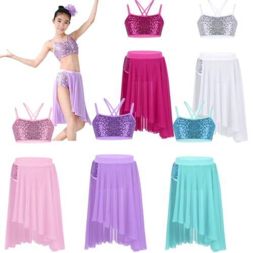 Girls Ballet Dress Kids Gymnastics Tutu Skirt Dancewear Skating Dancing Costume
