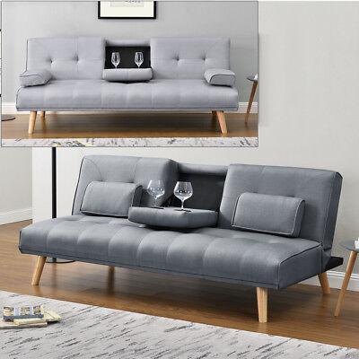 Modern Scandi Style Grey Fabric 2 3 Seater Small Single