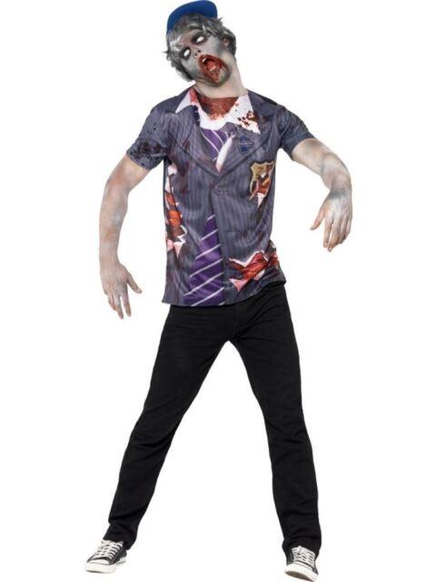 "Zombie School Boy, Chest 42""-44"", Halloween Zombie Alley Fancy Dress #AU"