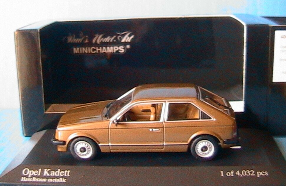 OPEL KADETT 1979 marron METALLIC MINICHAMPS 400 044100 1 43 HASELmarron METALLIC