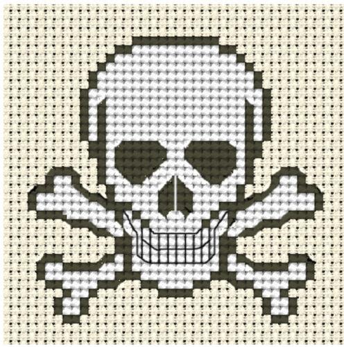 Tête de mort ~ full Compté Cross Stitch Kit pirate