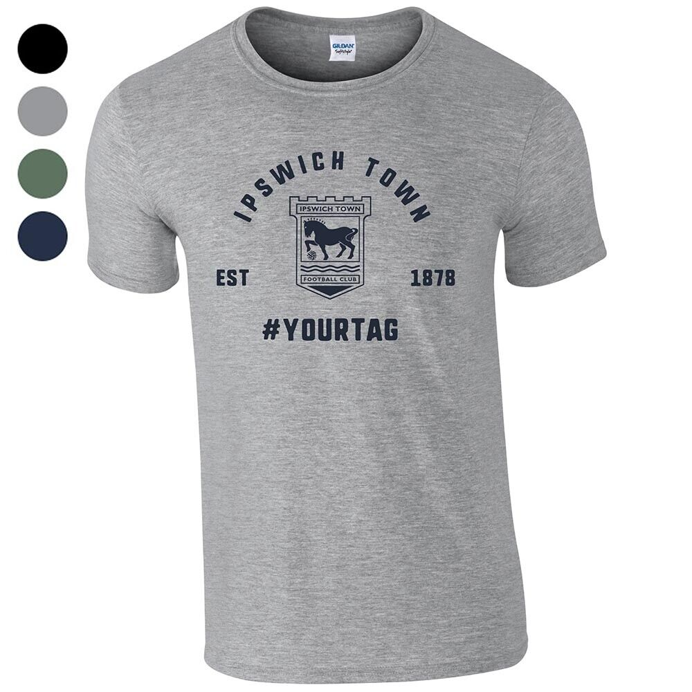 Ipswich Town F.C - Personalised Mens T-Shirt (VINTAGE #)