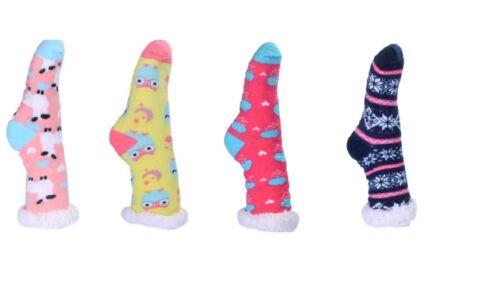 2 Pairs Feet Leg Winter Warmer Thick Fluffy Non Slip Grip Soft Fur Sock Hosiery