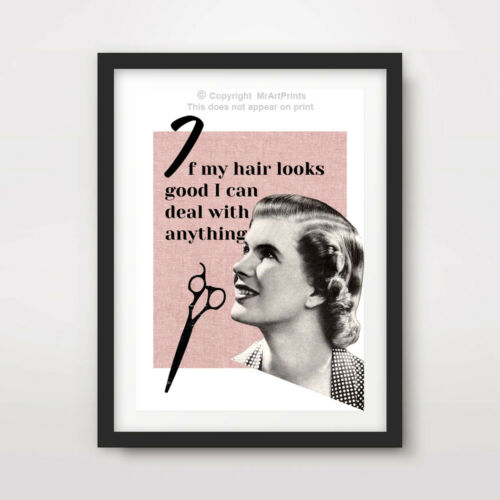 WOMENS HAIRDRESSERS ART PRINT POSTER Picture Wall Decor Motivational Inspiration