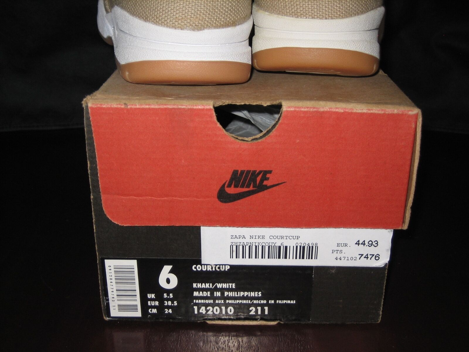 Nike Courtcup '98 '98 '98 USA 6 Canvas NIB NOS vintage ORIGINAL sneakers skate urban air e9e999