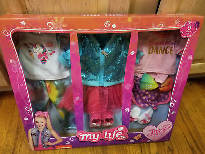 "MY LIFE AS JOJO SIWA 9 PIECE 18/"" DOLL CLOTHES CLOTHING SET 2018 NEW"