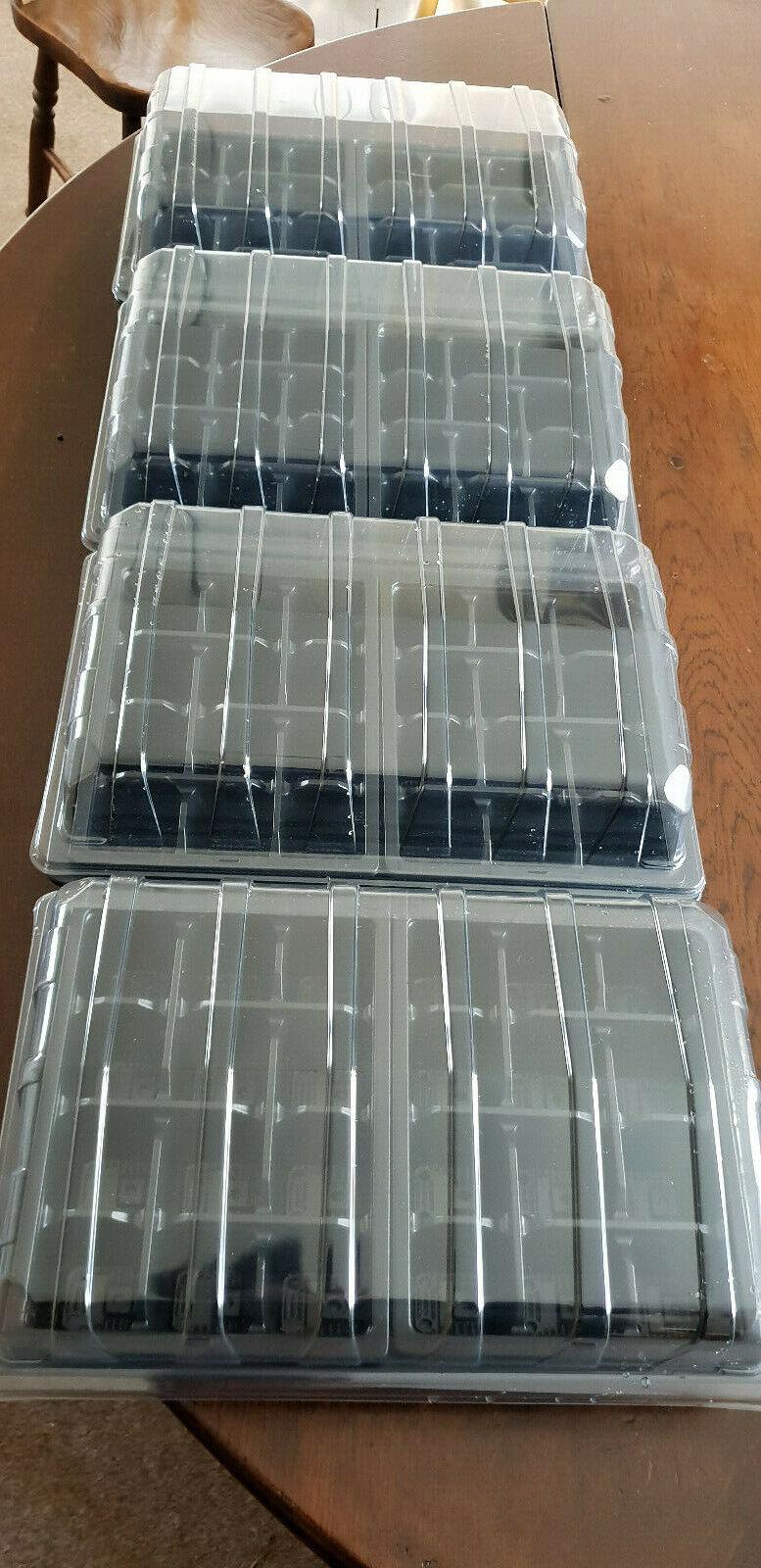 PLANT PROPAGATION 3 PIECE TRAYS: 8 Inserts + 4 HD Trays + 4 Clear Lids 96 cells