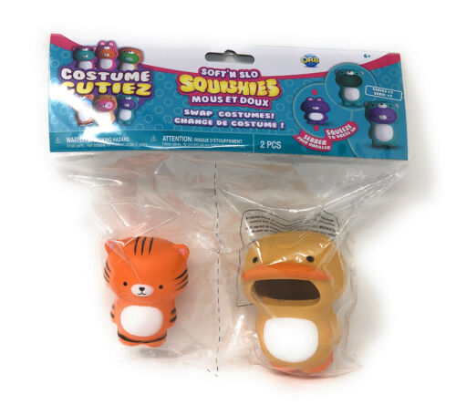 BRAND NEW Squishies Orb Soft'n Slo TIGER /& DUCK Costume Cutiez Series 1