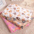 Warm Pet Blanket Small Large Paw Print Cat Dog Puppy Soft Fleece Bed Mat Cushion