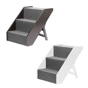 Escaliers pour animaux de compagnie en bois massif de luxe Fsc 3 marches / escalier pour chien / escalier pour chat / rampe