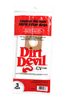 Dirt Devil Central Vacuum Cleaner Hepa Filter Bags Cv1500, Ro-1400