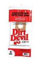 Dirt Devil Central Vacuum Cleaner Hepa Filter Bags Cv1500, Ro-1400