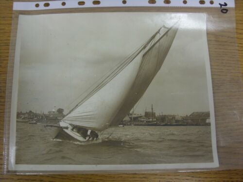 "circa 1920's Sailing Original Photograph, 10""x 8""  Friendly Rivalry With The B"