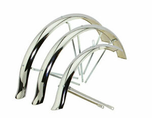 3 wheel fender bike Flared Standard Hollow Trike Conversion Fender Set Chrome