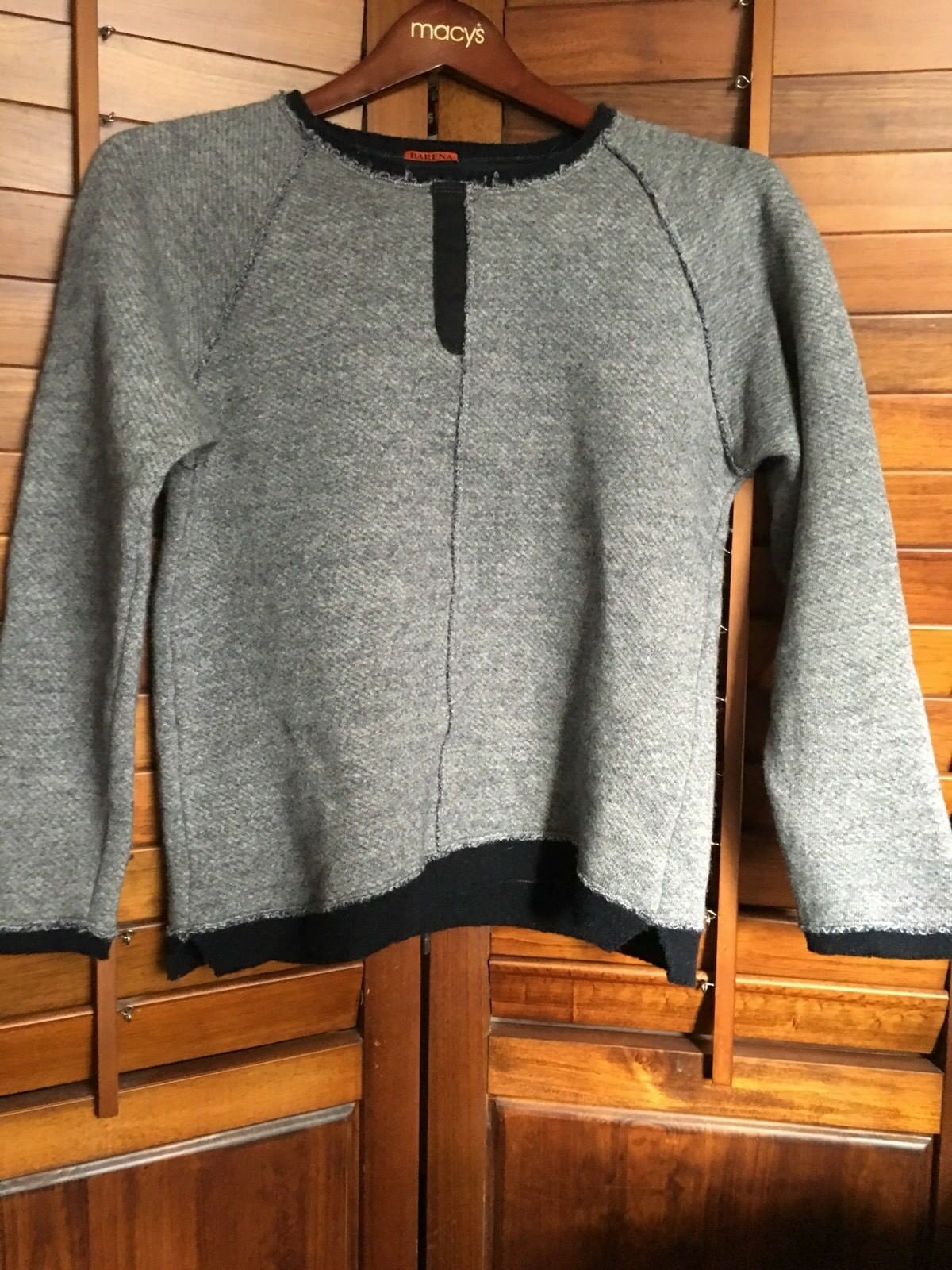 BARENA grau Sweater sz S Pre-owned