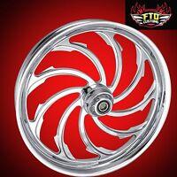 Harley Davidson Fatboy 21 Chrome Wheel Package venom Flstf Fits 2000-2016