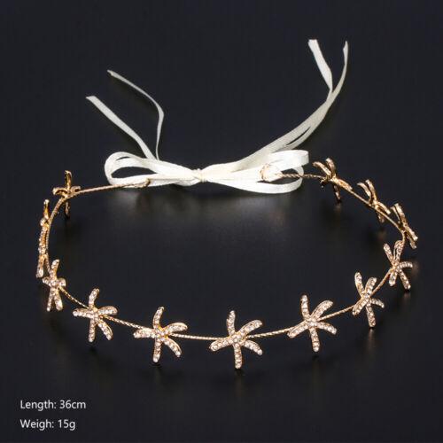 Pearl Leaf Crystal Hair Vine Crown Headpiece Wedding Bridal Hair Accessories