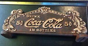 VIntage-Look Rustic Cast Iron Coca-Cola Coke Cash Register Topper Sign Plaque