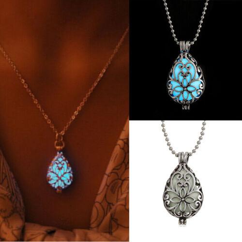 Leuchtende Silber Halskette Herz Anhänger Schmuck Damen Engelsrufer Gesche QBZ