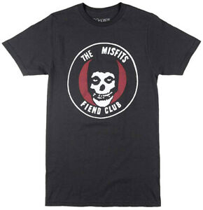 The-Misfits-Fiend-Club-Vintage-Black-Men-039-s-Graphic-T-Shirt-New