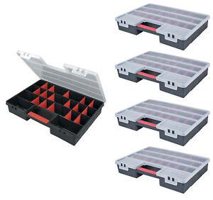 5 x Sortimentskasten Organizer Kleinteilemagazin Schraubenbox Werkzeugkasten XXL