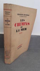 François Mauriac Las Chemins de La Mar 1939 Grasset París Pin Buen Estado