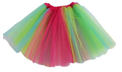 bunte Tütü Tutu Ballettrock Tüllrock Petticoat Ballettkleid Rock Ballett kinder