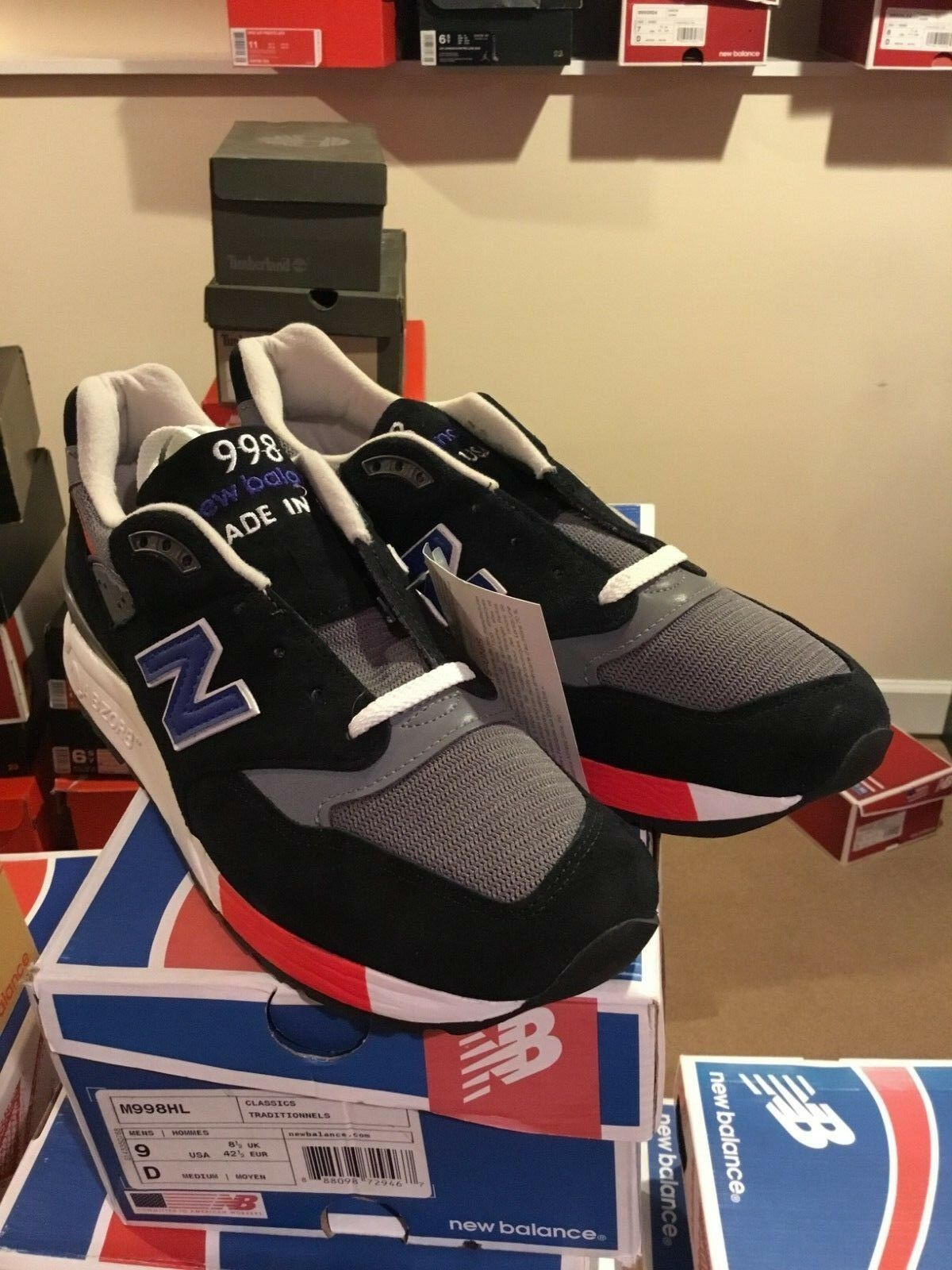 SALE NEW BALANCE 998 M998 M998HL MADE IN USA Größe 8-9 BRAND NEW